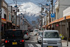 large Fuji-san and small Fuji-san (kasa51) Tags: shoppingstreet car automobile sign fujisan mtfuji gekkoji yamanashi japan 月江寺 富士山