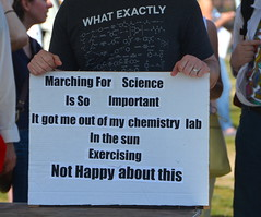 Marching for science is so important it got me out of my chemistry lab in the sun exercising (afagen) Tags: washington dc washingtondc districtofcolumbia marchforscience sciencemarch science sign