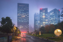 Hangzhou43LR.jpg (David S.M.) Tags: night china hangzhou travel clouds rain lights fog mist buildings skyscrapers