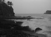 A spalsh with slow shutter (Bhushan Barve) Tags: getolympus olympuspro olympusproindia omd em10 konkan seascape blackandwhite sea slowshutter