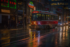 Rainy Nights on Queen Street West (A Great Capture) Tags: west queenstreet shortturn nights urban toronto ttc tracks streetcar night reflections rain rainy agreatcapture march292018 agc wwwagreatcapturecom adjm ash2276 ashleylduffus ald mobilejay jamesmitchell on ontario canada canadian photographer northamerica torontoexplore spring springtime printemps