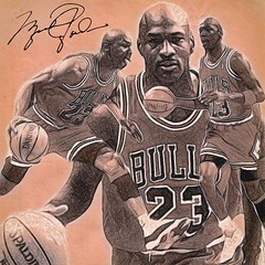 27 - Michael Jordan (Bob Smerecki) Tags: smackman snapnpiks robert bob smerecki sports art digital artwork paintings illustrations graphics oils pastels pencil sketchings drawings virtual painter 6 watercolors smart photo editor colorization akvis sketch drawing concept designs gmx photopainter 28 draw hollywood walk fame high contrast images movie stars signatures autographs portraits people celebrities vintage today metamorphasis 002 abstract melting canvas baseball cards picture collage jixipix fauvism infrared photography colors negative color palette seeds university michigan football ncaa mosaic