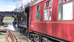 45212 Winchfield 05 April 2016 (18) (BaggieWeave) Tags: winchfield hampshire southwestmainline lswr black5 blackfive 45212 460 cathedralsexpress steam steamengine steamlocomotive steamtrain