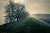 misty morning (soundmoods) Tags: muiden netherlands morning fog road dike water ijmeer lake ngc