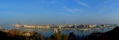 The Blue Danube (Valantis Antoniades) Tags: budapest hungary river blue danube panoramic panorama
