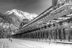 IMG_2018_04_01_02446__1__2_Monochrome (gravalosantonio) Tags: estación ferrocarril internacional canfranc jaca jactancia candanchu astun invierno pirineos blancoynegro aragon huesca españa spain nieve