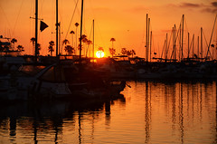 A colorful West Coast sunset, Oceanside California (Gail K E) Tags: california oceanside pacificocean usa socal sailboats harbor oceansideharbor sandiego southerncalifornia cali