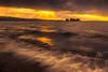 sunset 6612 (junjiaoyama) Tags: japan sunset sky light cloud weather landscape orange color lake island water nature winter wave rays beams