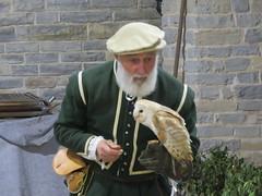 UK - Warwickshire - Wilmcote - Mary Arden's Tudor Farm - Living history - Bird of prey display - Barn owl (JulesFoto) Tags: uk england warwickshire wilmcote maryardensfarm livinghistory barnowl