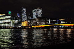 The Streets Are Paved With Gold (Douguerreotype) Tags: london uk bridge dark urban river water british buildings cityscape lights architecture gold thames britain night tower city gb england