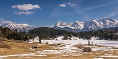 Karwendel panorama (hjuengst) Tags: karwendel bavaria bayern alps alpen mountains berge geroldsee wagenbrüchsee lake snow nikond7200 panorama gerold