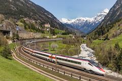 Twee SBB ETR.610 (pendolino) treinstellen. Wassen (Hans Wiskerke) Tags: wassen uri zwitserland ch sbb pendolino gotthardbahn