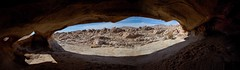 Window Cave (East of 29) Tags: windowcave hollowboulder alcove hidden remote desert view sliderssunday comboimage pano
