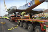 Vintage Gloster Meteor Jet T7 (G-BWMF)(WA591) Liverpool John Lennon Airport (Hale Road Speke) 8th April 2018 (Cassini2008) Tags: jbrawcliffesonsltdheavyhaulage glostermeteort7gbwmfwa591 liverpooljohnlennonairport transport aviation rafwoodvalegateguardian heavyhaulage nooteboomtrailersbv queenie
