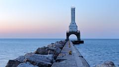 Port Washington Lighthouse (David C. McCormack) Tags: americana artistic antique arch eos6d environment greatlakes harbor lakemichigan lakefront lake landscape lighthouse outdoor pier sunrise wisconsin water z
