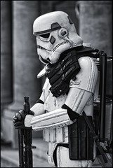 UK - Oxford - Comic Con 2018 - Stormtrooper 01_mono_DSC1257 (Darrell Godliman) Tags: ukoxfordcomiccon2018stormtrooper01monodsc1257 dirty grubby needsawash needsaclean bw blackandwhite monochrome mono stormtrooper stormtroopers starwars scifi sciencefiction cosplay cosplayer costume oxcon2018 oxfordcomiccon examinationschools oxford oxfordshire oxon ©dgodliman darrellgodliman wwwdgphotoscouk dgphotos allrightsreserved copyright travel tourism europe eu britishisles unitedkingdom uk greatbritain gb britain england omot flickrelite instantfave nikond7200 nikon d7200 ukgarrison 501stukgarrison