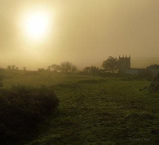 Foggy Countisbury Sunset
