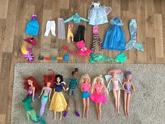 Trift Store Finds 21/05/2018 (an_drew_here) Tags: haul triftshop dolls monsterhigh ariel disney barbie
