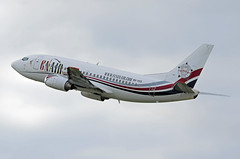 GNAIR (AIR X Charter) Boeing 737-5Q8 9H-YES Guns N'Roses Sticker (EK056) Tags: gnair air x charter boeing 7375q8 9hyes guns n'roses sticker düsseldorf airport