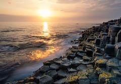 The Giant's Causeway (johan wieland) Tags: northernireland unitedkingdom gb coastline waves sunset causeway basalt giantscauseway unesco werelderfgoed heritage sea irishsea wind