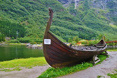 Vikingskip. Gudvangen (Pavel Zalesky) Tags: norge norway travel vacation summer viking ship