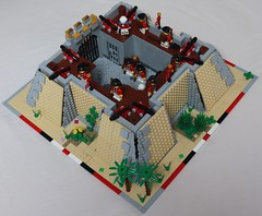 Fort Nithsdale (spud_the_viking) Tags: lego fort star redcoats redcoat cannon artillery walls moc fortress corrington sand