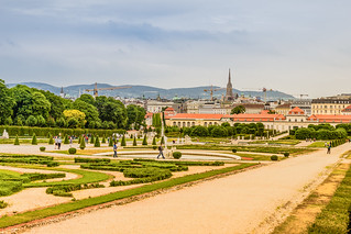 View of Vienna city and St. Stephen's Cathedral