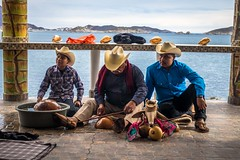 These men were performing a traditional Yaqui deer dance for us.