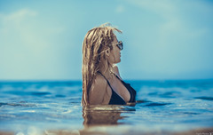 Summer portrait (Vagelis Pikoulas) Tags: summer june sea seascape girl girls wom woman portrait greece canon 6d sigma 85mm art f14