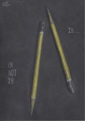 2B or not 2B (Klaas van den Burg) Tags: pencil color blackpaper humor wordplay