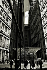 John St.- Broadway (sjnnyny) Tags: city urban nyc worldtradecenter1 195broadway officeblocks architecture lowermanhattan d7500 af2028d stevenj sjnnyny people streetphoto officeworkers financialdistrict