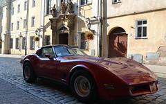 Red Corvette from Świdnica (sadat81) Tags: świdnica książ dolny śląsk lower silesia schliesen castle castles old city medieval gród księcia bolka polska poland polen summer polonia polonais schloss
