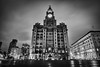 Royal Liver Building, Liverpool, UK (KSAG Photography) Tags: blackandwhite blackenedwhite city heritage architecture building history clock liverpool merseyside england uk unitedkingdom europe britain hdr night nightphotography urban street wideangle nikon march 2018 longexposure