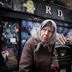 (XBeauPhoto) Tags: briicklane fujx100f london x100f candid citylife streetphoto streetphotography elderlywoman shopfront urban urbanvibe woman