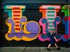 Is That Lilly (Steve Taylor (Photography)) Tags: oker like graffiti graphic mural streetart colourful contrast lady woman uk gb england greatbritain unitedkingdom london shape likenothingelse eborstreet shoreditch wharehouse warehouse letters barelegs boots tunic