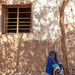 Young somali girl sit in the shadow in the street, Woqooyi Galbeed province, Baligubadle, Somaliland