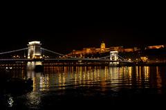 Budapest by night (Valantis Antoniades) Tags: chain bridge budapest hungary suspension danube buda castle