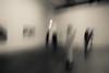 the adoration of the golden calf of art (ChrisRSouthland) Tags: brisbane camera gerhardrichter nikond800 richter museum zeissdistagon21mmf28 blackandwhite blackwhite bw motionblur