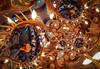 Antler Swirl (Lee Rosenbaum) Tags: theta360 quincuncial 360degree abstract regression panorama britishcolumbia antlers mathmap vancouver pub lightfixture spiral ricohthetas brewery rbbrewing bar