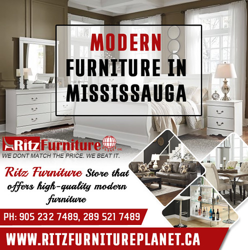 Modern furniture Mississauga are marked by Ritz Furniture Planet, style and affordability. Call now 905-232-7489