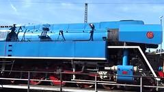 447 043 auf der Drehscheibe (Thomas230660) Tags: dresden eisenbahn dampf dampflok steam steamtrain sony