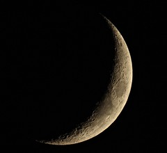 Waxing Crescent Moon [Explored] (Sarah and Simon Fisher) Tags: waxing crescent moon moonwatch lunar lunarseas craters night sky clear telescope maksutov 127mm primefocus canon 600d astrophotography astronomy bromsgrove worcestershire uk