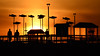 Edmonds sunset (@GilAegerter / klahini.com) Tags: nikkor70300mmf4563afp 70300mmf4563afp nikond5200 d5200 sunset artwork edmonds marina breakwater municipalart silhouette gold