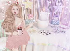 Unicorn Party (Gabriella Marshdevil ~ Trying to catch up!) Tags: sl secondlife cute kawaii doll pastel unicorn mossmink sintiklia catwa bento mudskin arcade party uber