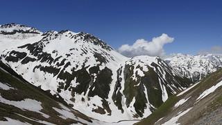 panoramic view on Furka Passhöhe Switzerland