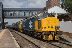 DRS 37424 + 37401 Altrincham (daveymills37886) Tags: drs 37424 37401 altrincham class 37 374 bls branch line society nosey peaker