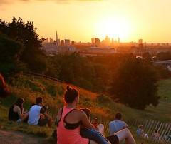 Sunset from Greenwich Park (Waterford_Man) Tags: sunset skyline london architecture orange summer