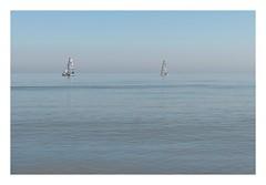 Sailing (Number Johnny 5) Tags: tamron d750 nikon calm seashore sailing water mood minimal space sea blue imanoot dinghy yacht boat sky gorleston 2470mm seascape documenting johnpettigrew