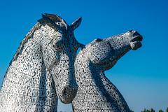 Kelpies (Tony Shertila) Tags: scotland andyscott britain canal europe falkirk horse kelpies monument ourdoor sky statue structure thehelix water grangemouth unitedkingdom