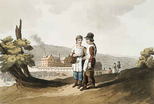 Illustration of factory children from The Costume of Yorkshire (1814) by George Walker (1781-1856).